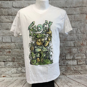 Fruit of the Loom Mens Graphic Tee Size M White